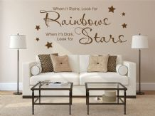 "Vinyl Wall Quote ""..When Its Dark, Look For Stars"" Wall Sticker, Modern Decal"